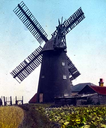 Colour picture of the mill in 1930